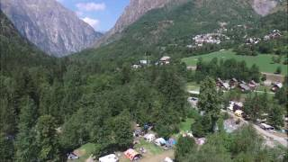 Le Camping La Cascade de Venosc vu du ciel