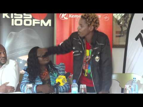 Eric Omondi at the Night of a 1000 laughs press conference,Kenya