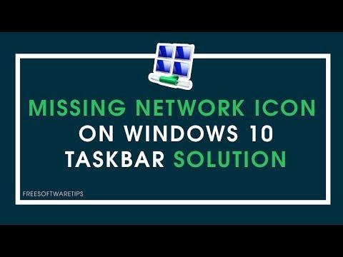 Missing Network Icon / Wifi Icon on Windows 10 Taskbar Solution | Updated 2018