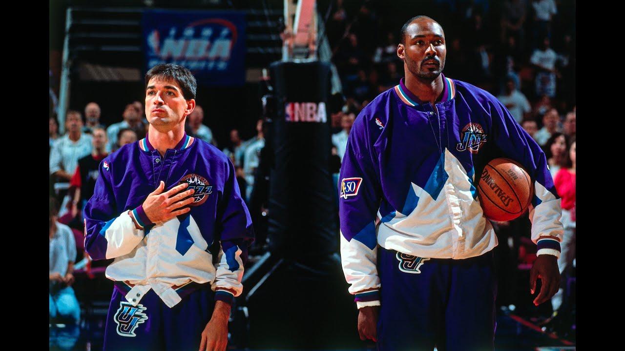 3f89ae149 Jazz Rockets  Stockton (26 24 6)   Malone (35 10) vs Olajuwon (26 13 7 5)