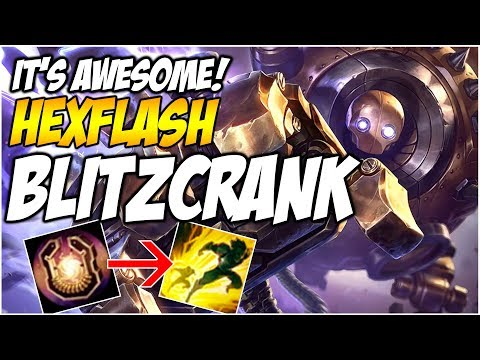 HEXFLASH BLITZCRANK IS AWESOME - Huzzy On Support? | League of Legends (Riot Point Giveaway!)