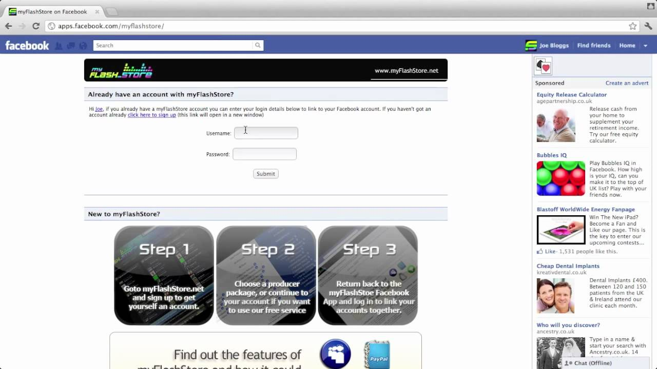 How to add the myFlashStore Facebook App to your Facebook Page