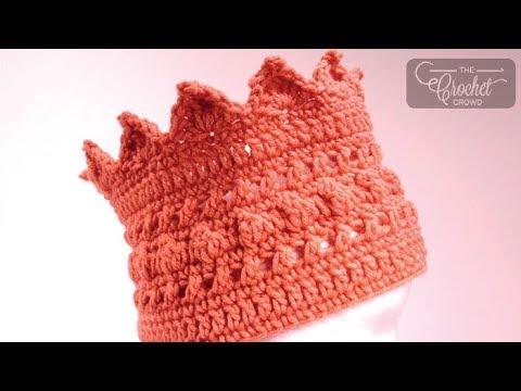 0b68c56d6 Crochet Crown Winter Headband - YouTube