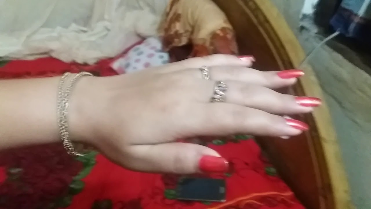 Beautiful red long nails by our hand model JYOTI SINHA (video 3 ...