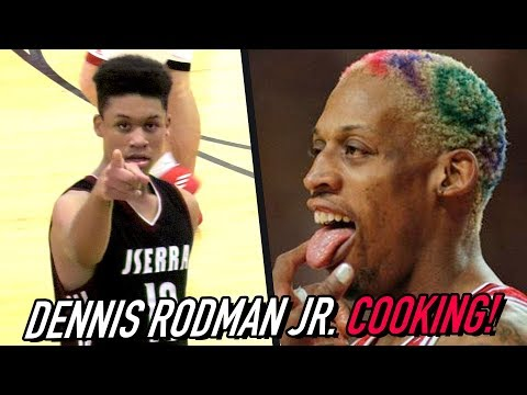 Dennis Rodman Jr. More OFFENSIVE MINDED Than His Dad! TRICK Inbound Play! [JSerra VS OLU]