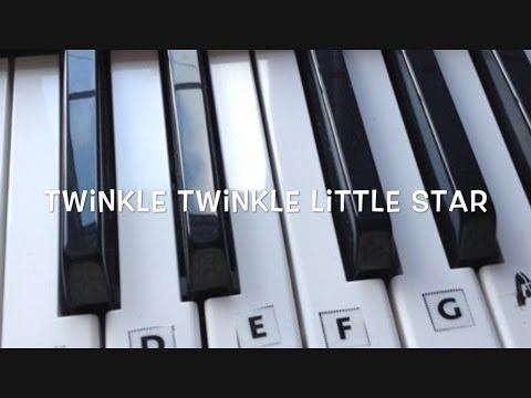 Twinkle Twinkle Little Star - Step by Step Keyboard Tutorial For Beginners
