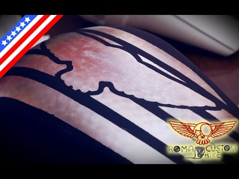 How to apply gold and silver leaf - ep 17 eng - Roma Custom Bike