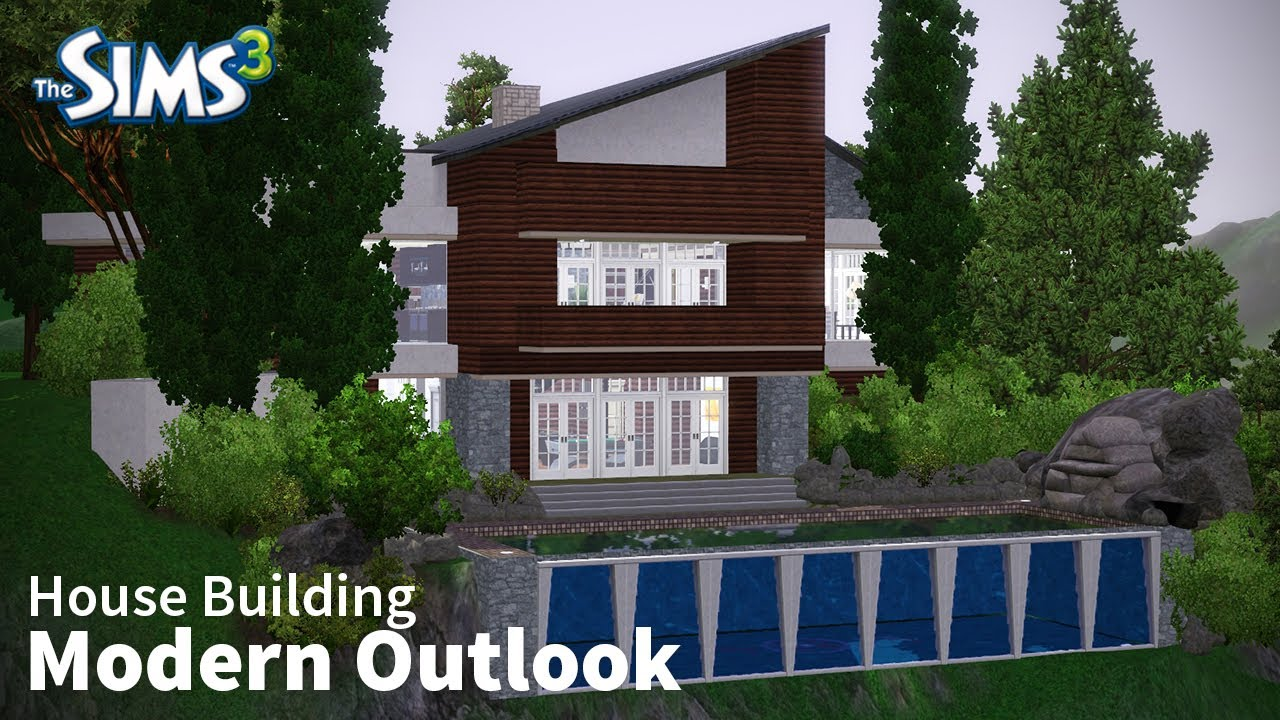 The sims 3 house building modern outlook