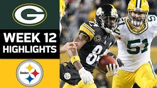 Packers vs. Steelers | NFL Week 12 Game Highlights thumbnail