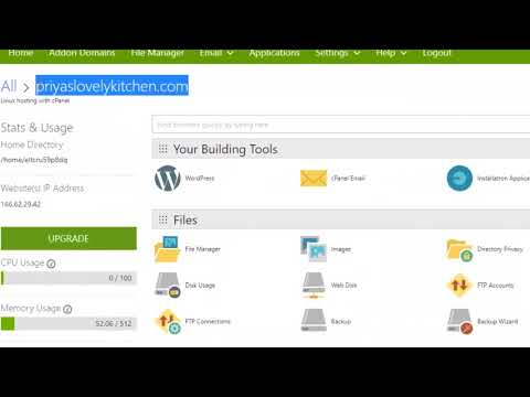 How to back up and restore the wordpress site in Godaddy control panel - 동영상