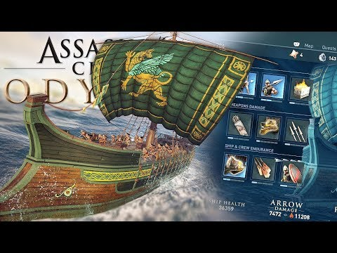 SHIP CUSTOMIZATION & NAVAL BATTLES! Assassins Creed Odyssey