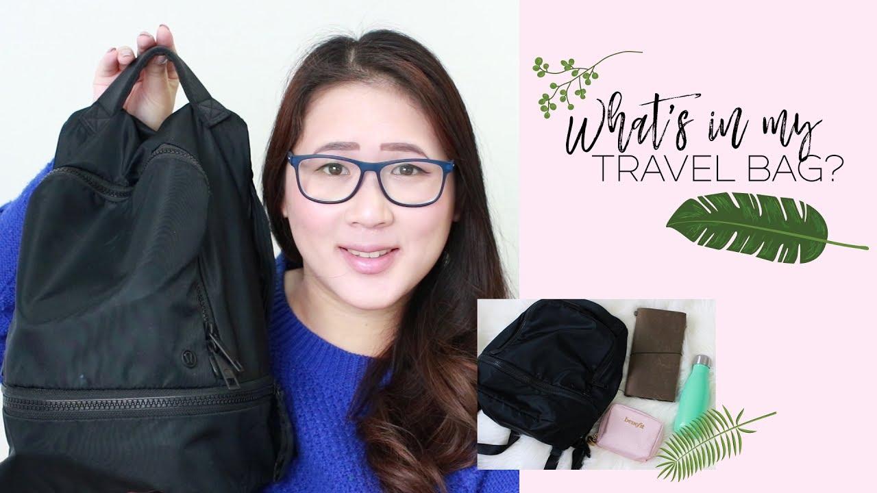 8106a720eb What s In My Travel Bag  (Outdoor Edition!) Lululemon Backpack - YouTube