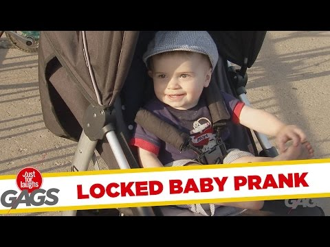Man Leaves Baby Stroller On a Bike Lock