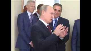 Путин в День знаний в школе № 7 Кургана