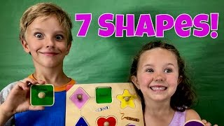 Learn English Words! Shapes and Colors with Jojo and his little sister!
