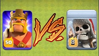 Clash of Clans - GIANT SKELETON vs MAX LEVEL 50 BARBARIAN KING!