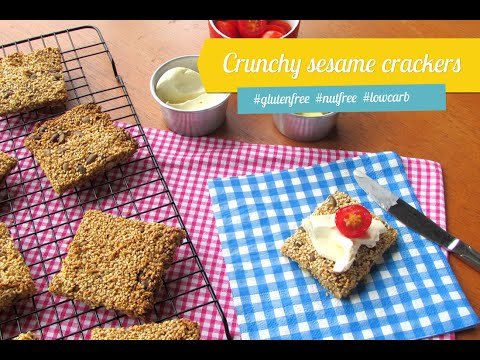 Crunchy sesame crackers #glutenfree #lowcarb