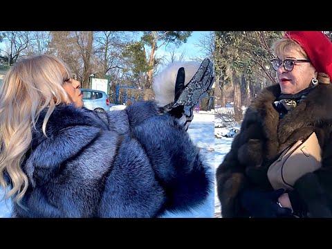 I am wearing full length Blue Fur Coat in public 😎 People's reaction PART 1