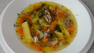 Быстрый суп с фаршем (ленивые фрикадельки)