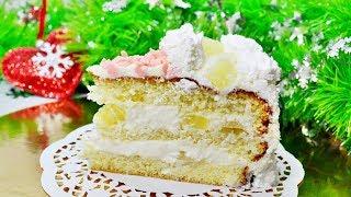 Тающий во рту бисквитный торт