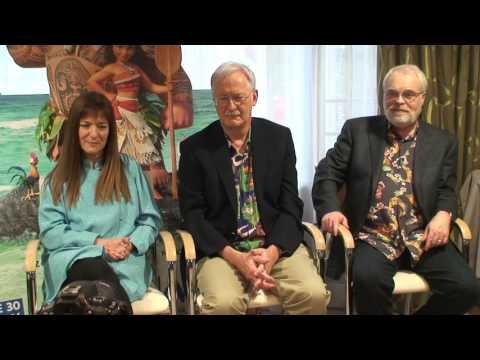 Conférence de presse Vaiana (John Musker , Ron Clements, la productrice Osnat Shurer )