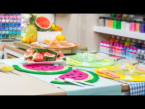 DIY Fruit Placemats - Home & Family