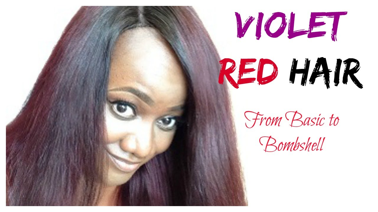 DIY  How To Violet Red Hair Color  Loreal Feria Power Violet  YouTube