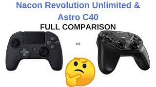 Astro C40 vs Nacon Revolution Unlimited - Long, In-Depth Feature Comparison
