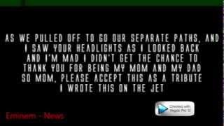 Eminem - Headlights ft. Nate Ruess ( Lyrics ) MMLP2