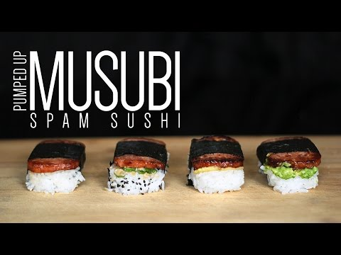 Musubi Spam Sushi | How to make Musubi at home + Me eating!