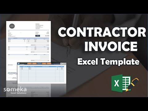 Contractor Invoice Template | Invoice In Excel With Database!
