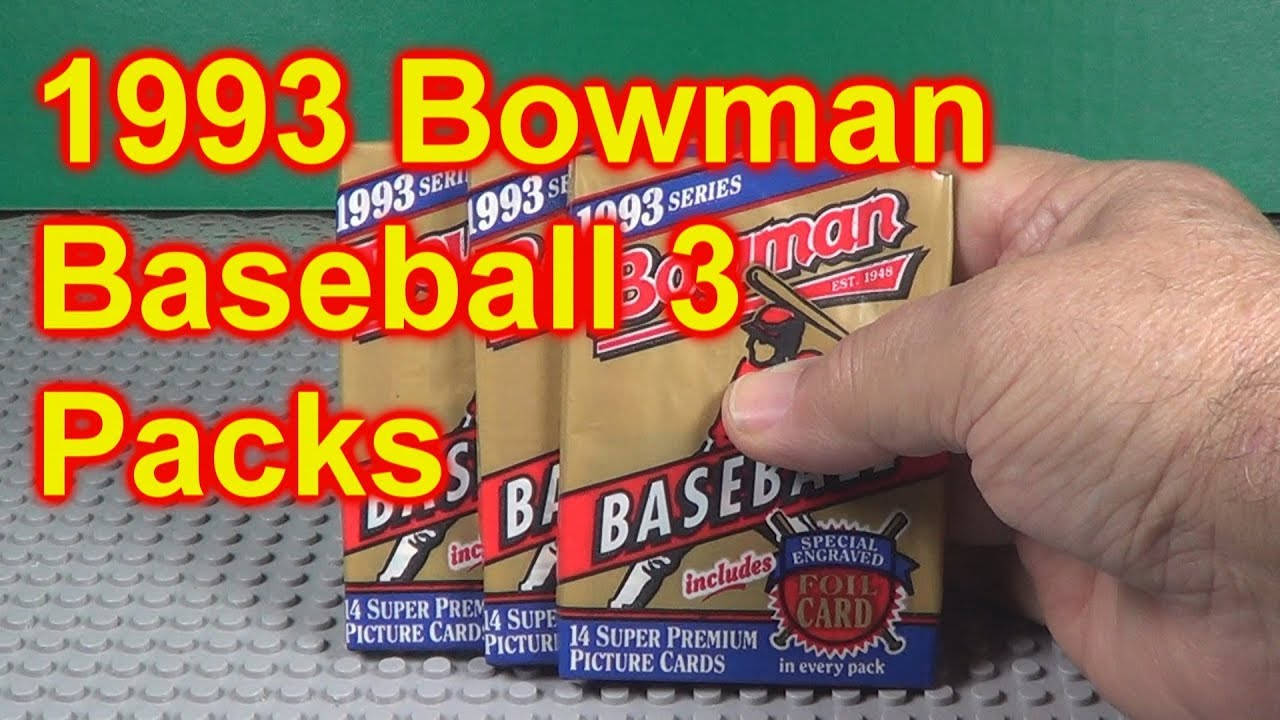 1993 Bowman Baseball Cards Opening 3 Packs Rookie Year Of Jeter
