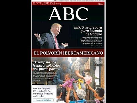 #Noticias Domingo 21 Octubre 2018 Titulares Portadas Diarios Periódicos España Spain #News
