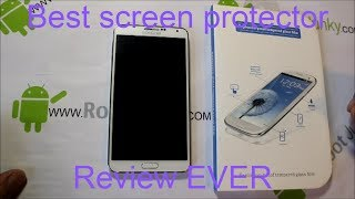 Galaxy Note 3 Tempered Armor screen protector review