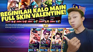 PEMBANTAIAN FULL SKIN VALENTINE! Skin On Skill Off Wkwkwk...