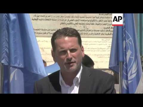 UN's commissioner for Palestinian refugees visits Gaza; demo outside UN HQ in Ramallah