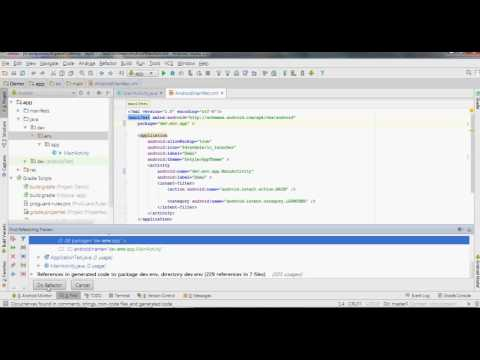 Rename Package Name in Manifest | Android Studio