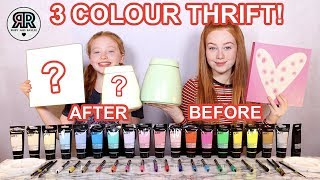 3 Color Paint & Marker Thrift Makeover Challenge * Cheap Summer DIY'S | Sis vs Sis | Ruby and Raylee