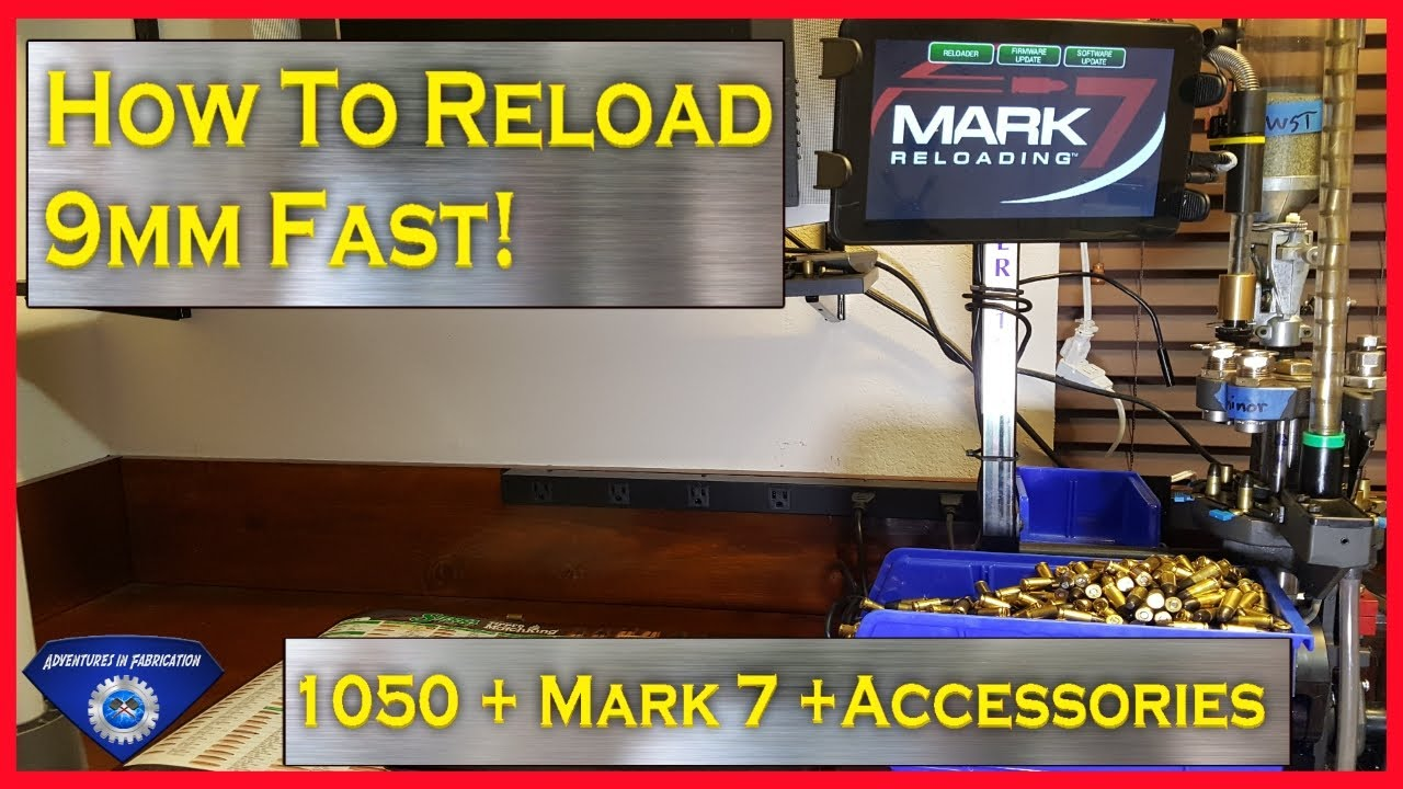 How to reload 9mm fast - Dillon 1050 + Mark 7 + Accessories