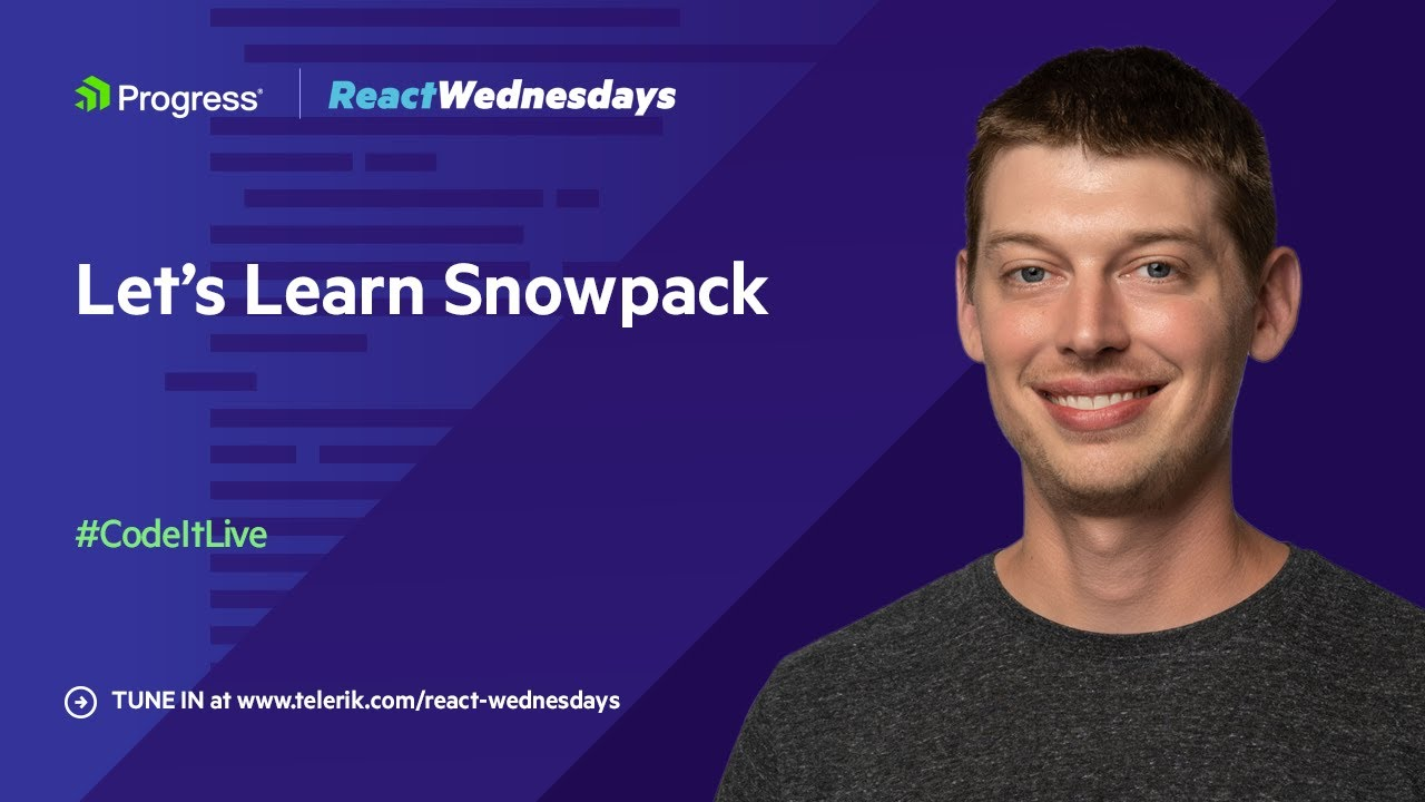 React Wednesdays: Let's Learn Snowpack w/ Fred Schott