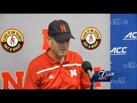 Mike Riley addresses the media after Huskers lose to Miami, 36-33