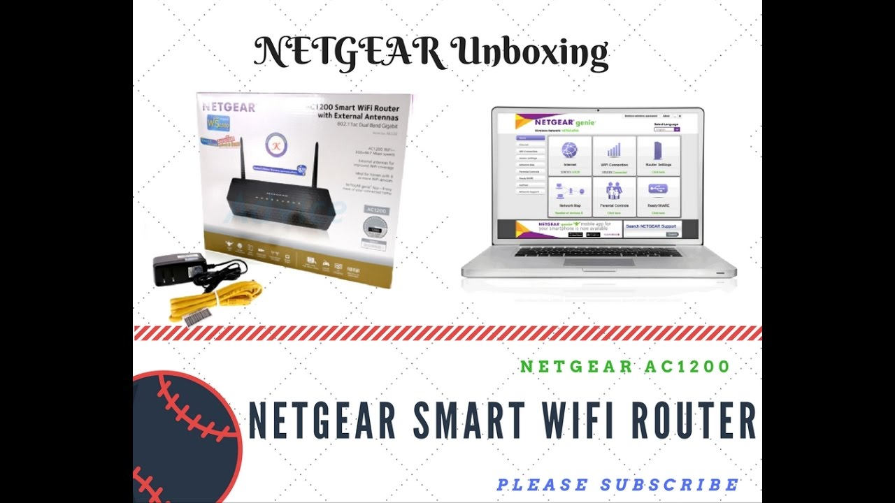 Netgear R6220 AC 1200 Smart WiFi Router Unboxing