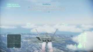 Ace Combat Infinity: Mission 7 Area B7R ( F-22 Raptor / S Rank )