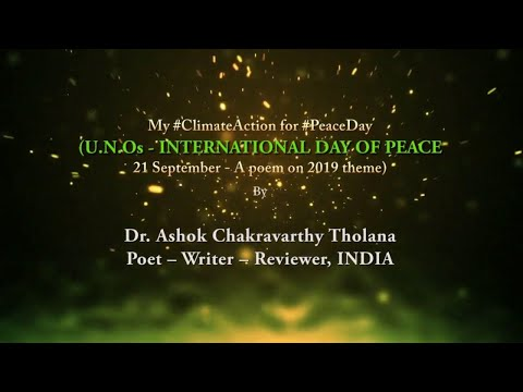 UNO -  International Day of Peace poetry 21 September 2019