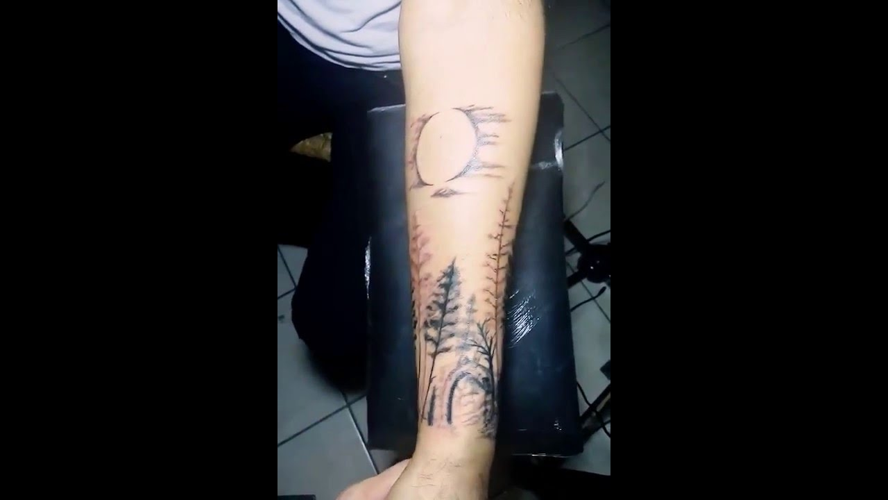Tatuaje De Bosque Primera Secion Youtube