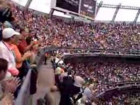 Unveiling name of Terrel Davis on Broncos Ring of Fame 2007!