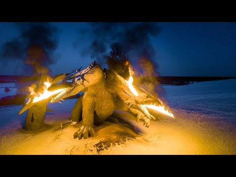 Змей Горыныч, Кудыкина гора - аэросъёмка огня