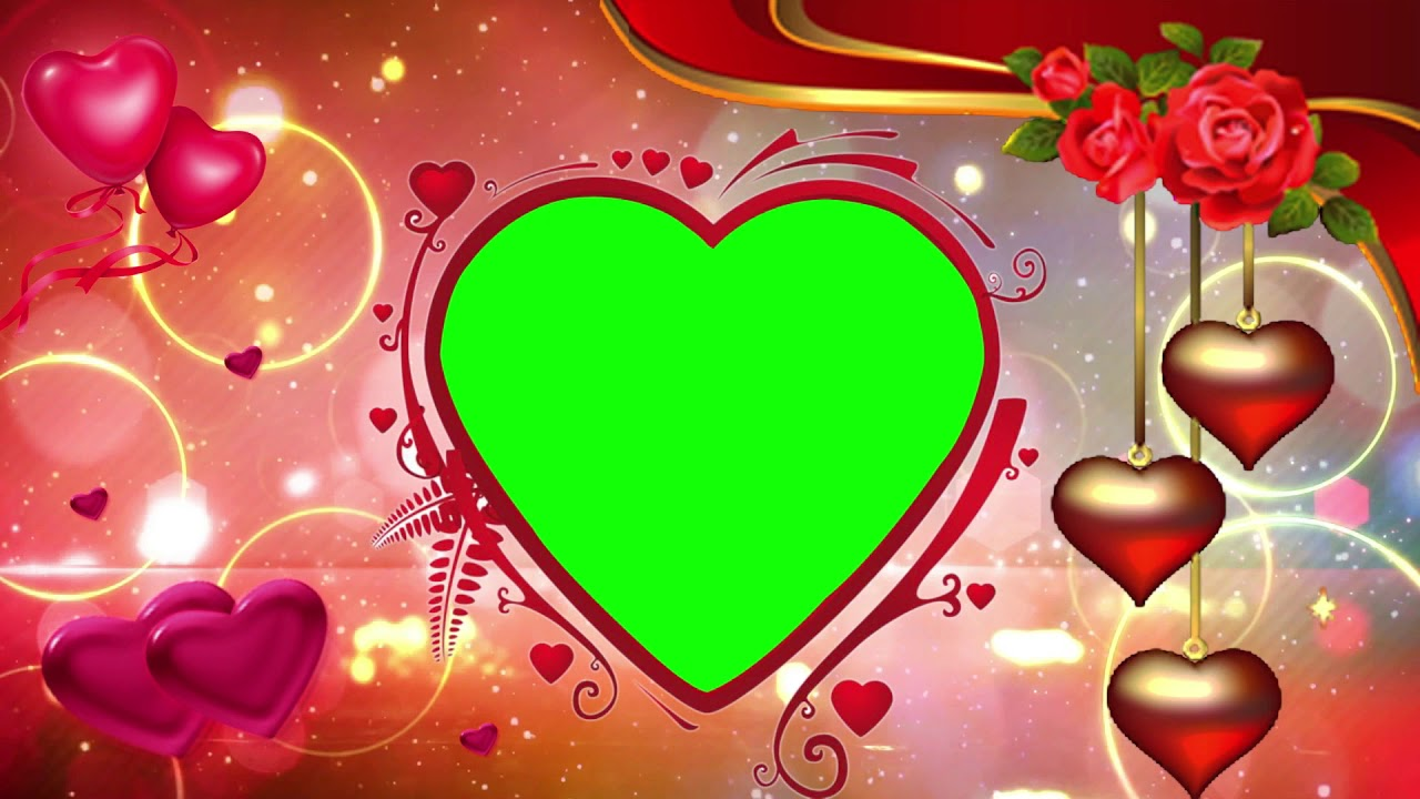 Free Wedding Frame Green Screen Background Effect HD,Green Screen ...