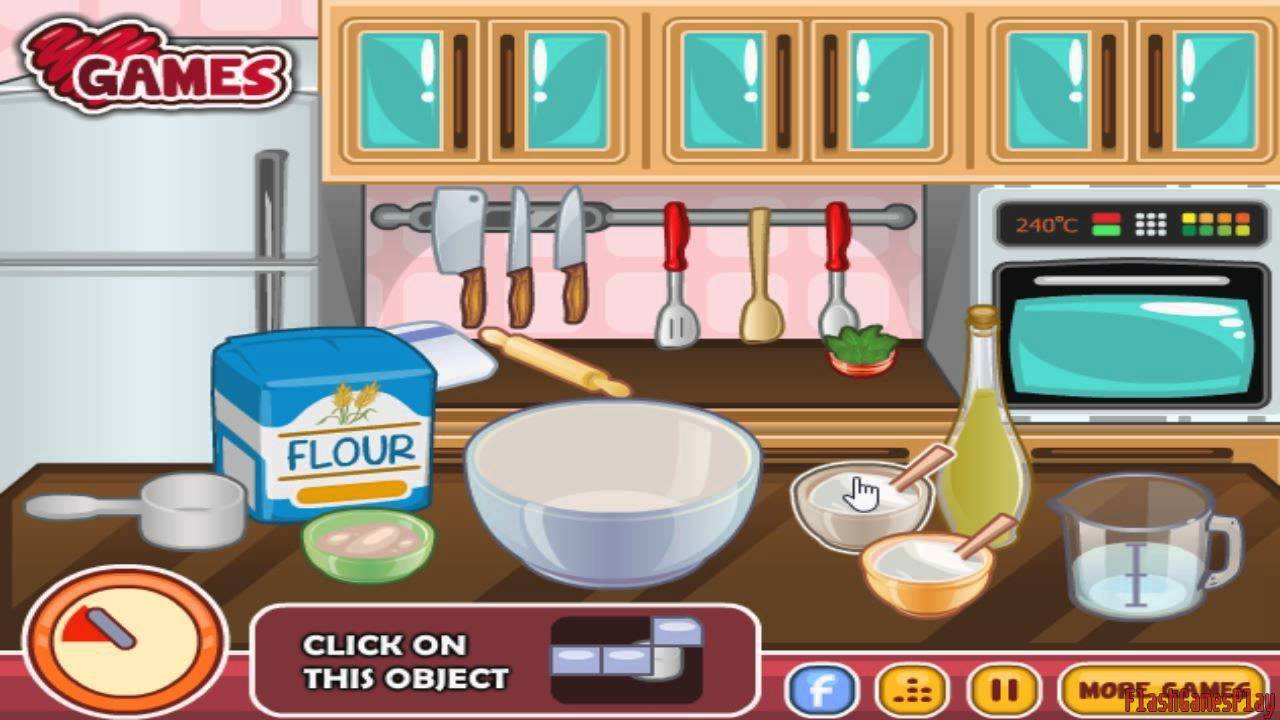 Barbie Cooking Games - Barbie Makes Food In The Kitchen Game - YouTube