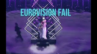 Eurovision 2018 Fail United Kingdom Man Stolen Microphone